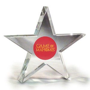 KC Chiefs Game of Mahomes Crystal Star Paperweight